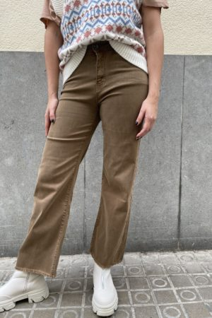 JEANS FLARE BROWN